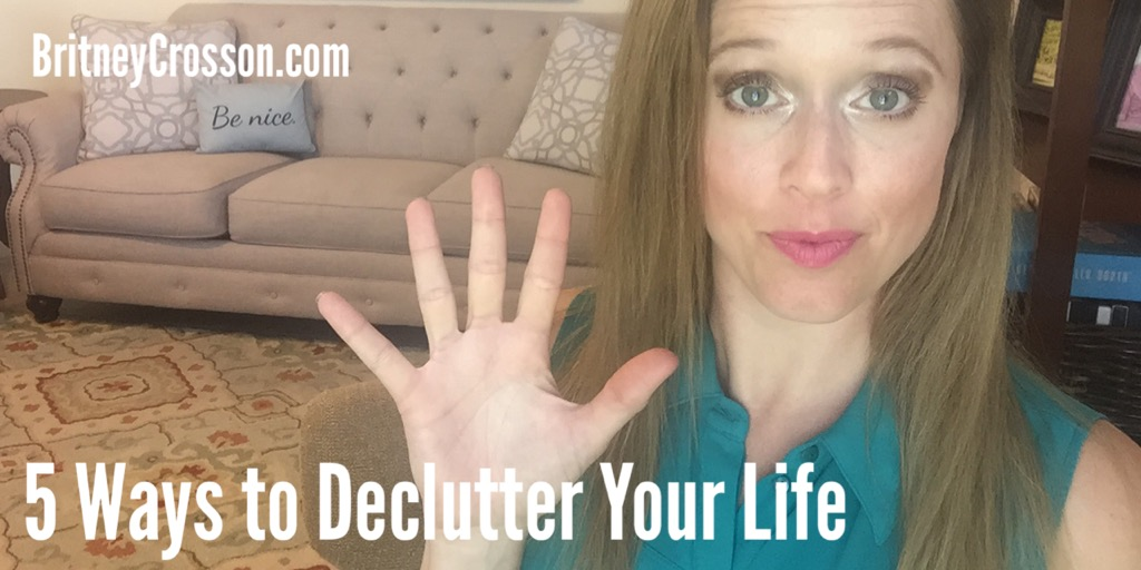 5 ways declutter life video image