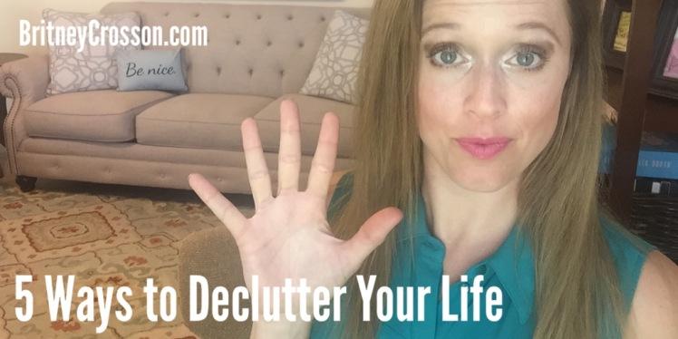 5 ways declutter life video image