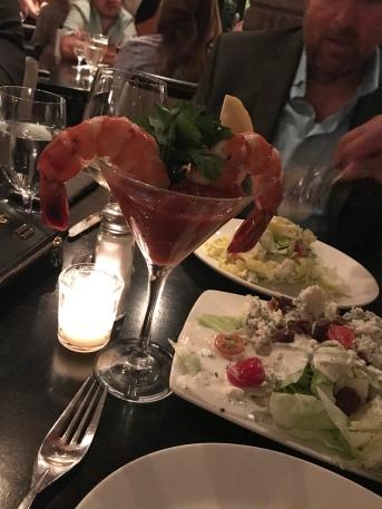 Prime 112 shrimp cocktail & double wedge salad